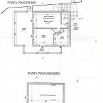 planimetria piano primo/sottotetto